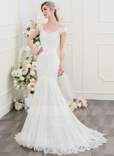 vestido de noiva simples sereia