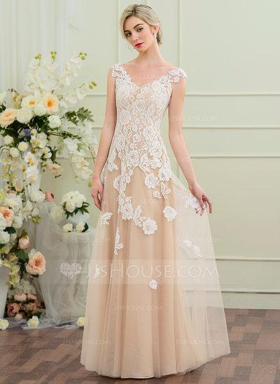 vestido de noiva simples bege
