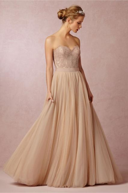 vestido de noiva simples champagne