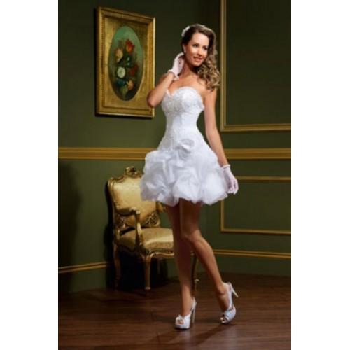 Vestido de Noiva Tomara que Caia com luvas