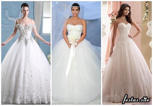 Vestido de Noiva Tomara que Caia modelos