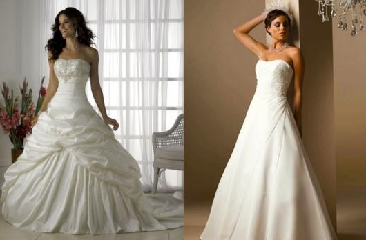 Vestido de Noiva Tomara que Caia com pregas