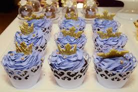 Cupcake Princesa Sofia azul de ganache