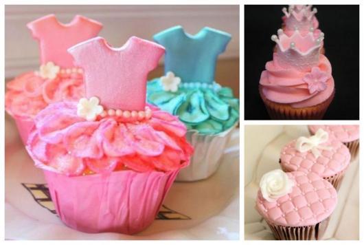 Cupcakes rosa.
