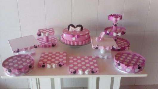 kit festa minnie para mesa de bolo