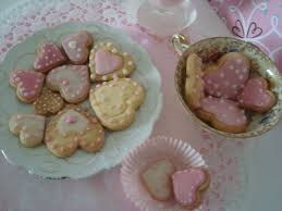 Biscoitos Decorados românticos no formato de coração