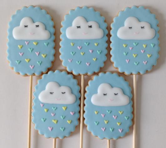 Biscoitos Decorados infantil tema chuva de bençãos