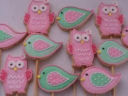 Biscoitos Decorados infantil tema corujinha