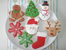 Biscoitos Decorados de Natal no formato de floco de neve