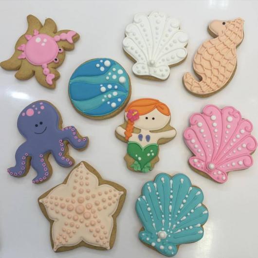 Biscoitos Decorados infantil tema fundo do mar