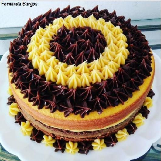bolo decorado naked cake