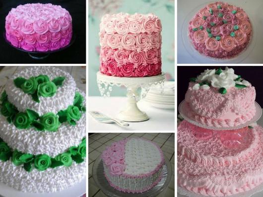 Como Fazer Bolo de Aniversário decorado com bico de confeiteiro