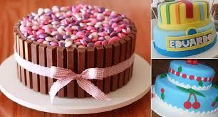 Como Fazer Bolo de Aniversário decorado com chocolate e confete rosa