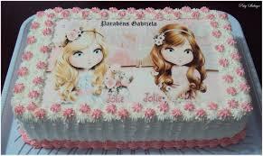 Como Fazer Bolo de Aniversário decorado com papel de arroz da Jolie