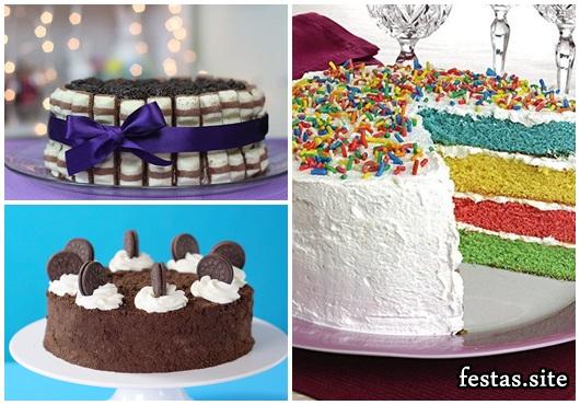 Como Fazer Bolo de Aniversário decorado com chantilly e chocolate