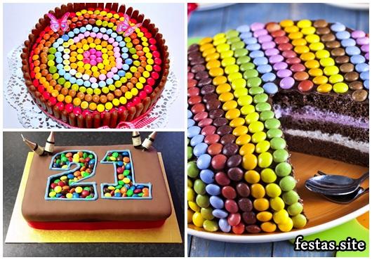 Como Fazer Bolo de Aniversário decorado com confete