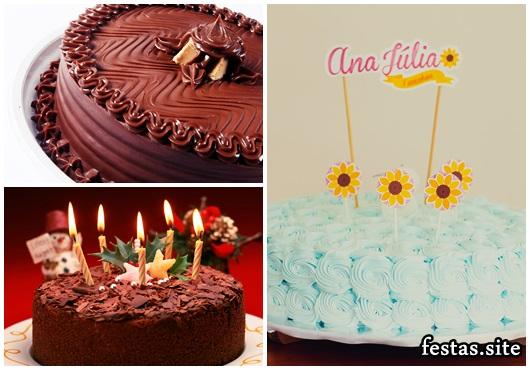 Como Fazer Bolo de Aniversário decorado com ganache de chocolate