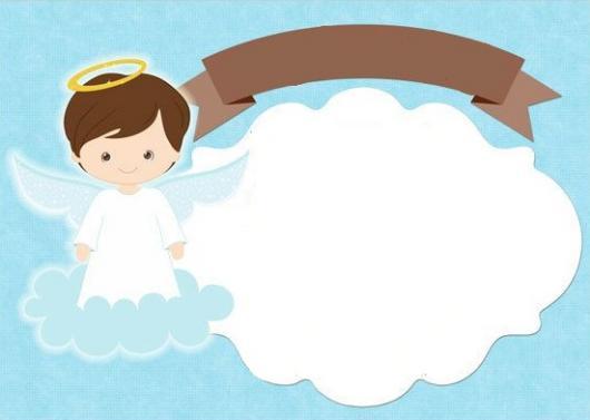 Modelos de Convite de Batismo para imprimir grátis