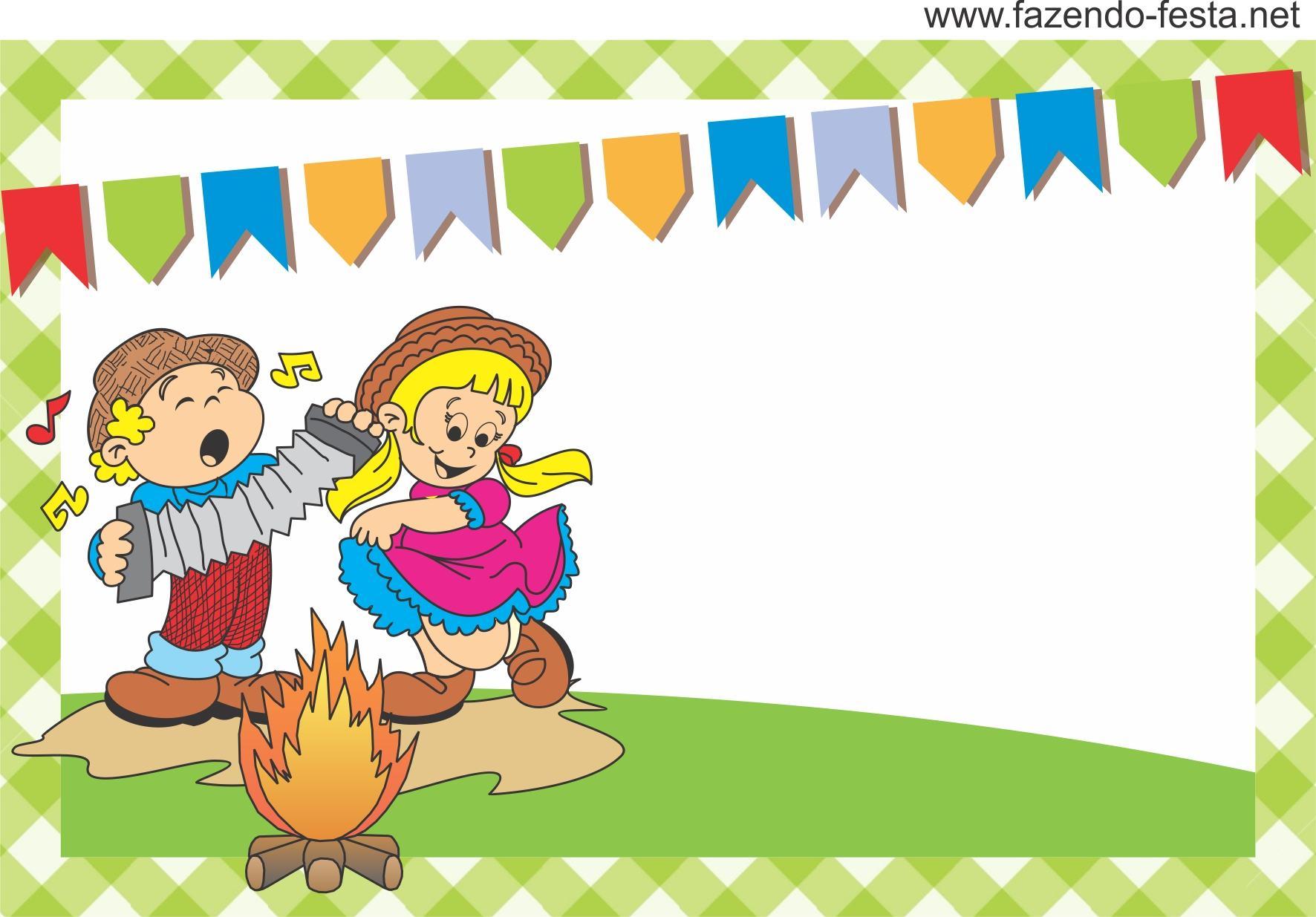 Convite Festa Junina para imprimir grátis