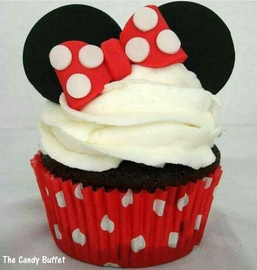 cupcake Minnie chantilly branco
