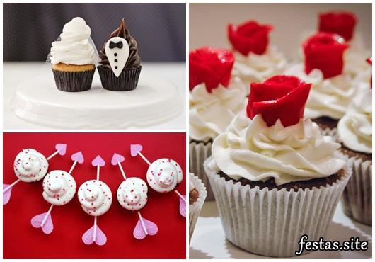 Cupcake para Casamento modelo com topper