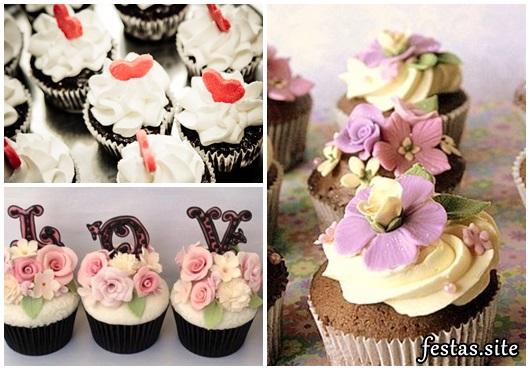 Cupcake para Casamento com flores