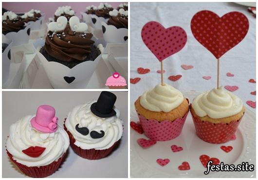 Cupcake para Casamento com coração
