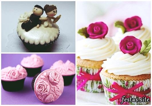 Cupcake para Casamento com noivinhos