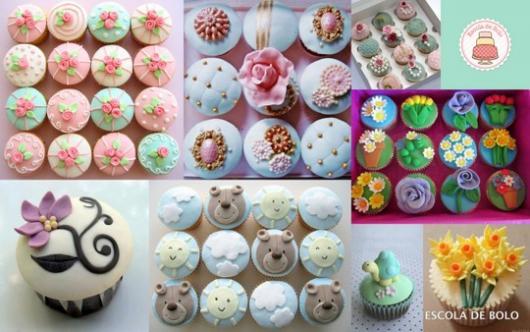 Cupcakes Decorados com pasta americana modelos