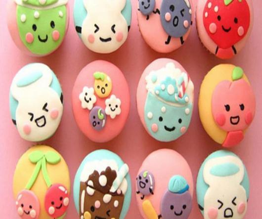 Cupcakes Decorados com pasta americana no modelo de frutinhas