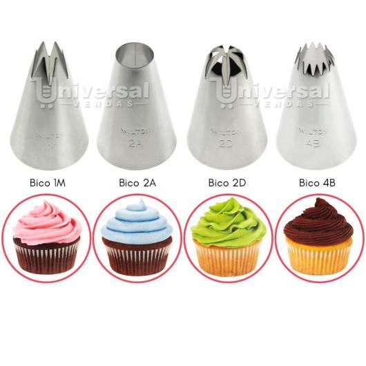 Cupcakes Decorados modelos de bico para confeitar