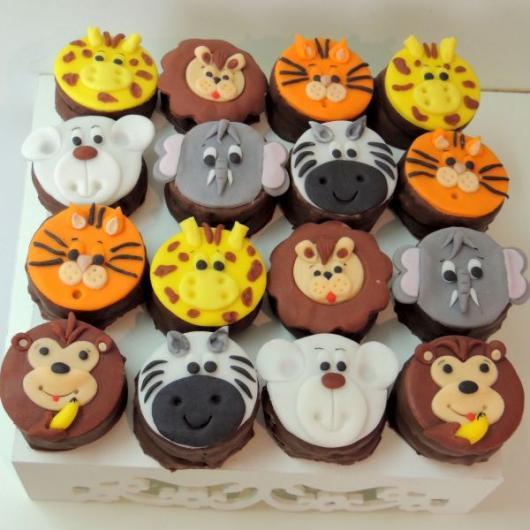 Cupcakes Decorados para Festa Safari