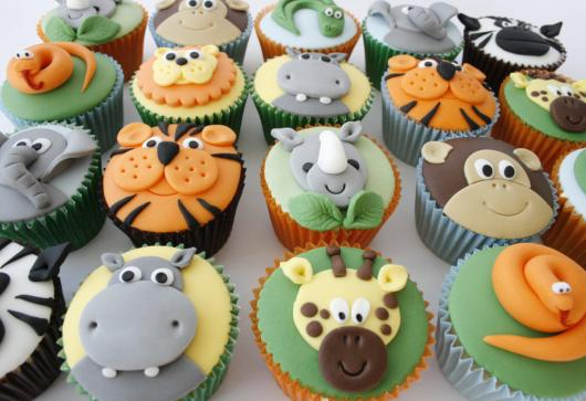Cupcakes Decorados Safari