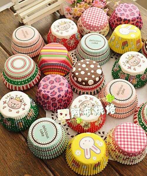 Cupcakes Decorados wrapper estampado