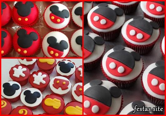 Cupcakes Decorados modelos do Mickey