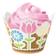 Cupcakes Decorados com wrapper de flores