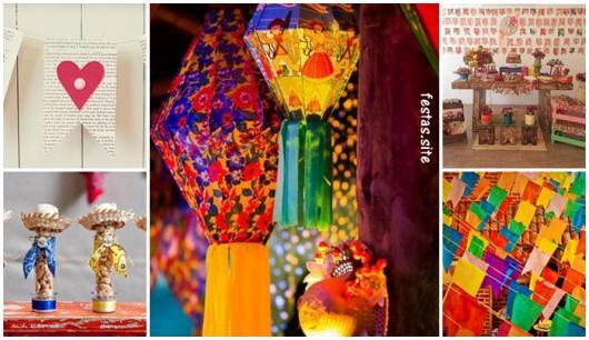 Enfeites Festa Junina 62 Ideias Para Decorações Como Fazer Fácil
