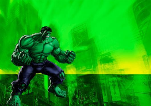 Festa do Hulk modelo de convite verde com personagem no canto