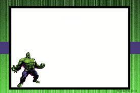 Festa do Hulk modelo de convite cartão verde e branco com personagem no canto