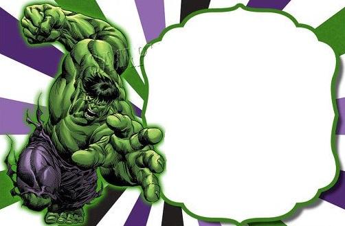 Festa do Hulk modelo de convite cartão para imprimir