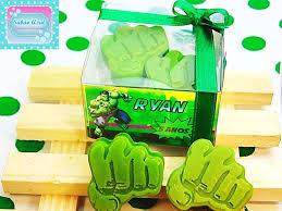 Festa do Hulk modelo de lembrancinha sabonete