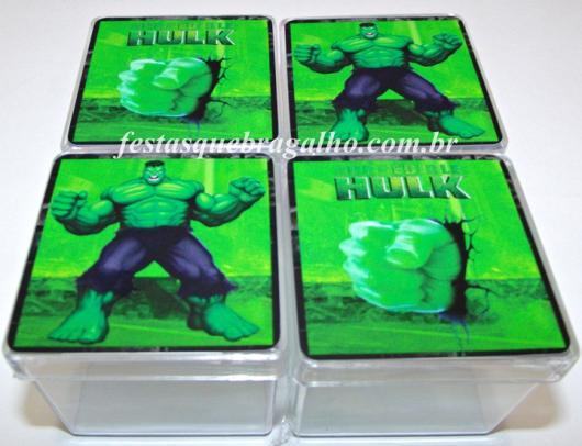 Festa do Hulk modelo de lembrancinha caixinha acrílico personalizada