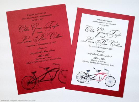 fotos de convites de noivado criativos