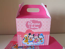 Caixinha de doces de kit festa minnie rosa