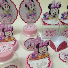 kit festa minnie baby com potinhos
