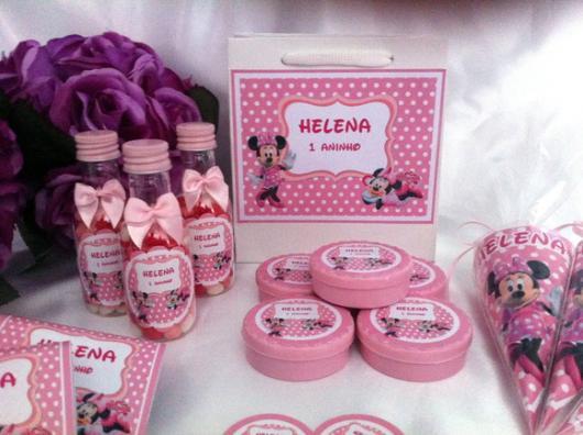itens para festa de aniversário do kit festa minnie rosa