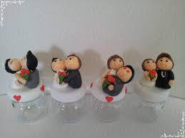lembrancinhas de casamento de biscuit potinhos