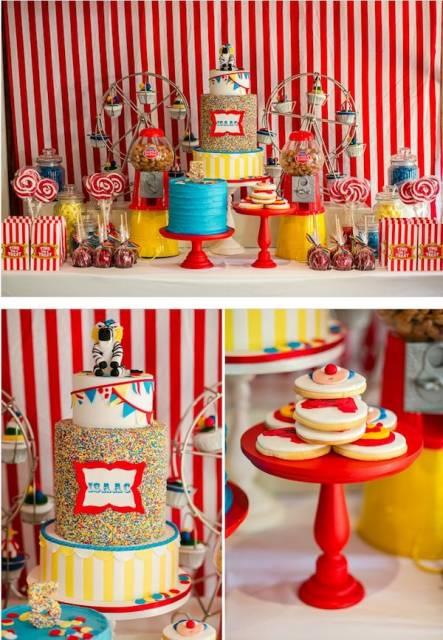 Mesversário decoração do Circo com kit festa