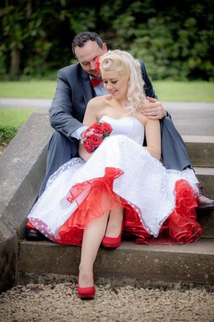 vestido midi noiva