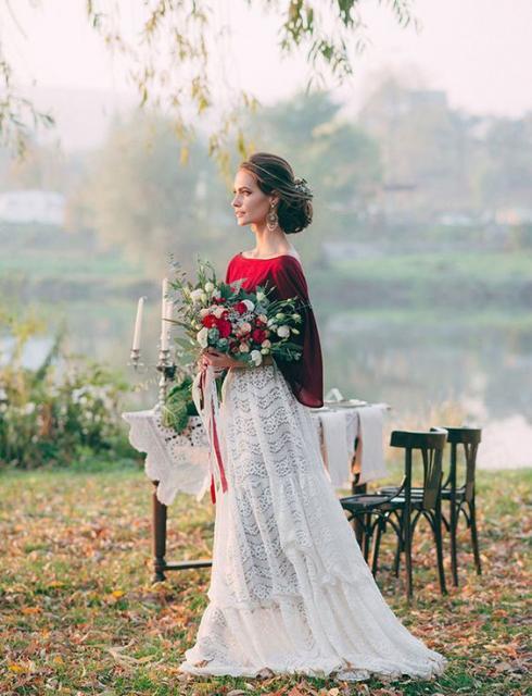 vestido de noiva casamento campo